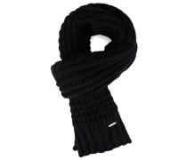 Schwarzer Schal Andro mit Zopfmuster