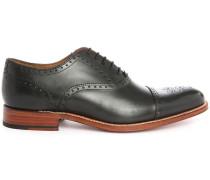 Schwarze Richelieu-Schuhe Tom mit aufgesetzter Kuppe
