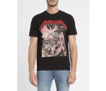 Schwarzes T-Shirt Metallica Heads