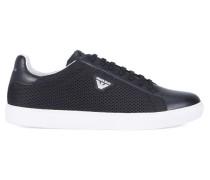 Schwarze Sneaker aus Bimaterial mit AJ-Logo