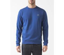Sweatshirt Runder Kragen Blau