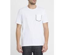 Weißes T-Shirt mit Brusttaschen
