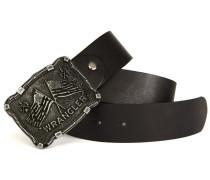 Schwarzer Gürtel mit Western-Schnalle Pr