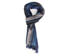 Grauer Schal Multi Stripes aus Baumwoll-Seide