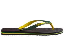 Black/Yellow Mix Brazil Flip-Flops