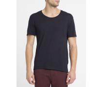 T-Shirt mit Rundhalsausschnitt Flammé Jac aus Baumwolle in Nachtblau