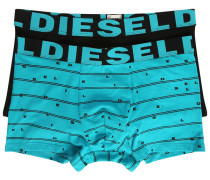 2-Pack of Turquoise Damien Two-Tone Briefs