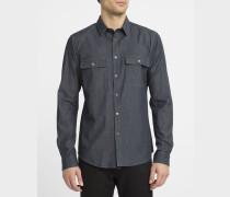Blaues Hemd aus Denim Light mit Brusttaschen Barham