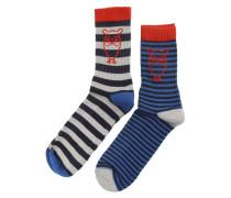 Set 2 Paar Socken gestreift