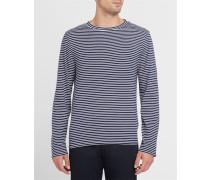 T-Shirt ML gestreift Blau und Weiß