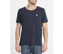 Blaues Basic-T-Shirt Emmett