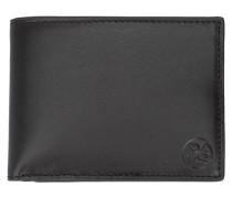 Schwarzes Portemonnaie mit Lederecken