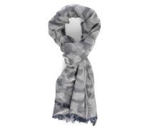 Schal in grauen Tarnfarben aus Baumwollgemisch