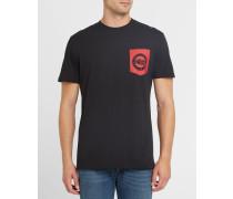 Anthrazitgraues T-Shirt mit Brusttasche Pr