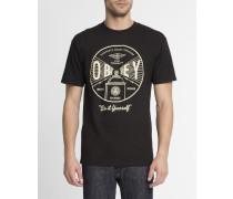 Schwarzes T-Shirt mit Aufdruck Under Pressure