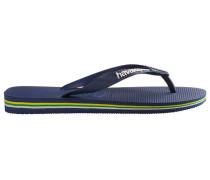 Navy Brazil Logo Flip-Flops