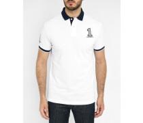 Weißes Poloshirt Nummer