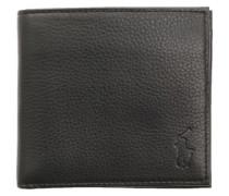 Geldbeutel aus schwarzem Leder