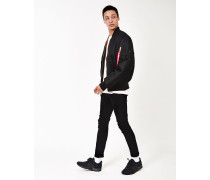 Classic MA1 Vintage Fit Bomber Jacket Black