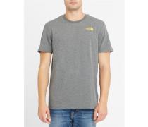 Graues T-Shirt mit Rundhalsausschnitt Pr