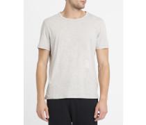T-Shirt mit Rundhalsausschnitt aus Jersey Sec Fredonia in Grau meliert