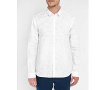 Weißes Hemd Feroz mit Printmotiv Pr