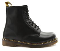 Halbstiefel aus schwarzem Leder und mit gelben Nähten 1460