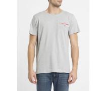 Graues T-Shirt Pr Welt
