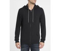 Schwarzes Kapuzensweatshirt mit Reißverschluss Cornell