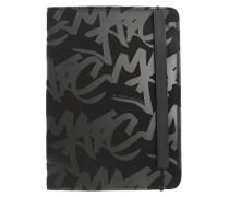 Schwarze Tablet-Hülle Graffiti Logo