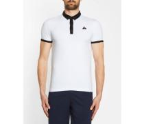 Zweifarbiges Poloshirt in Weiß und Schwarz