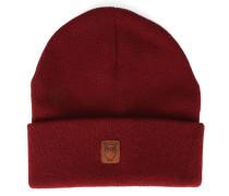 Mütze aus bordeauxroter Schurwolle