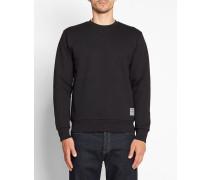 Schwarzes Sweatshirt mit Rundhalsausschnitt und Druckmotiv State