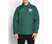 Dunkelgrüne Coach Jacket mit State Pile-Aufdruck