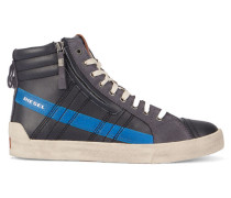 Hohe Sneaker D String Plus in Schwarz und Blau