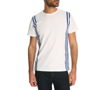 Weißes T-Shirt Side Stripes
