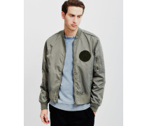 Rank Patch Bomber Jacket Green