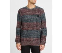 Pullover mit Rundhalsausschnitt Vari Block mit Streifen in Blau und Grau