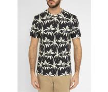 Schwarzes T-Shirt Palm Print