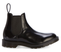 Schwarze Chelsea Boots Made in UK aus Glattleder