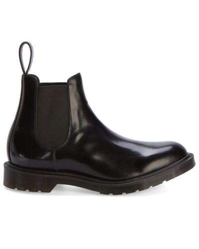 dr martens herren schwarze chelsea boots made in uk aus glattleder reduziert. Black Bedroom Furniture Sets. Home Design Ideas