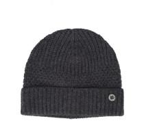 Mütze aus grauer Wolle