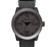 Mattschwarze Uhr Corporal Gunmetall mattschwarz