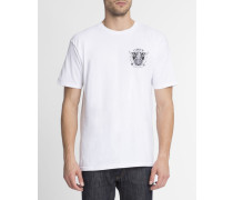 Weißes T-Shirt mit Aufdruck Peace and Justice Eagle