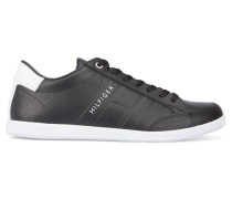 Schwarze Leder-Sneaker Denzel