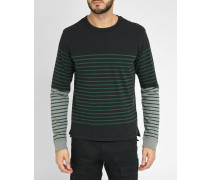 Gestreifter Pullover mit Rundhalsausschnitt und seitlichen Knöpfen T-Venera