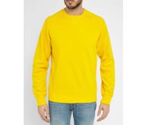 Gelbes Sweatshirt mit Rundhalsausschnitt Chase