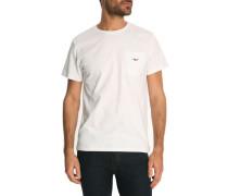 Weißes T-Shirt Patch Pocket