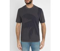 Blaues Strick-Shirt Palm Knit