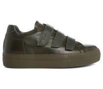 Sneaker Edition 44 aus einfarbig khakibraunem Leder